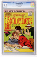 Silver Age (1956-1969):Romance, Young Romance Comics #81 (Prize, 1956) CGC VF/NM 9.0 Off-white towhite pages....