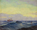 Western:20th Century, WILLIAM FREDERICK JARVIS (American, 1898-1966). Untitled (Seascape). Oil on canvas. 10 x 12 inches (25.4 x 30.5 cm). Sig...