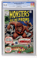 Bronze Age (1970-1979):Horror, Monsters on the Prowl #9 Don Rosa Collection pedigree (Marvel,1971) CGC VF/NM 9.0 Off-white to white pages....