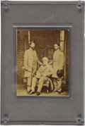 Photography:CDVs, Carte de Visite of General Robert E. Lee, Son Rooney Lee, and Colonel Walter H. Taylor....