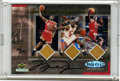 Basketball Collectibles:Others, Michael Jordan Signed Game Upper Deck Championship Floors Card.Dazzling rarity from the Upper Deck company places floor pi...