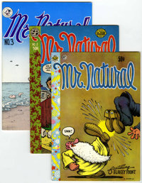 Mr. Natural #1, 2, and 3 Group (Apex Novelties, 1970-77).... (Total: 3 Comic Books)