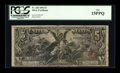Large Size:Silver Certificates, Fr. 268 $5 1896 Silver Certificate PCGS Fine 15PPQ....