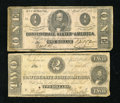 Confederate Notes:1863 Issues, Two Confederate Notes.. ... (Total: 2 notes)
