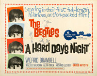 "A Hard Day's Night (United Artists, 1964). Half Sheet (22"" X 28"")"