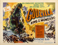 "Movie Posters:Science Fiction, Godzilla (Trans World, 1956). Half Sheet (22"" X 28"") Style A...."