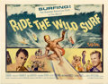 "Movie Posters:Sports, Ride the Wild Surf (Columbia, 1964). Half Sheet (22"" X 28"")...."