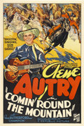 "Movie Posters:Western, Comin' Round the Mountain (Republic, 1936). One Sheet (27"" X41"")...."