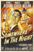 "Movie Posters:Film Noir, Somewhere in the Night (20th Century Fox, 1946). One Sheet (27"" X41""). ..."