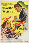 "Movie Posters:Film Noir, Sorry, Wrong Number (Paramount, 1948). One Sheet (27"" X 41""). ..."