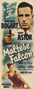 "Movie Posters:Film Noir, The Maltese Falcon (Warner Brothers, 1941). Insert (14"" X 36""). ..."