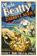 "Movie Posters:Serial, Darkest Africa (Republic, 1936). One Sheet (27"" X 41""). ..."