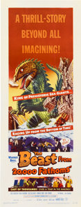 "Movie Posters:Science Fiction, The Beast from 20,000 Fathoms (Warner Brothers, 1953). Insert (14""X 36"")...."