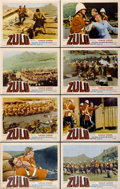 "Movie Posters:War, Zulu (Paramount, 1964). Lobby Card Set of 8 (11"" X 14"").... (Total:8 Items)"