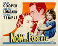 "Movie Posters:Drama, Now and Forever (Paramount, 1934). Half Sheet (22"" X 28"") StyleB...."