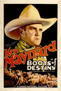 "Movie Posters:Western, Boots of Destiny (Grand National, 1937). One Sheet (27"" X 41"")...."