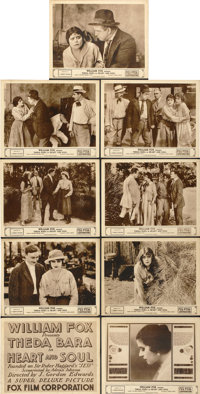 """Heart and Soul (Fox, 1917). Lobby Card Set of 9 (11"""" X 14"""").... (Total: 9 Items)"""