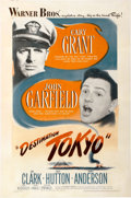 "Movie Posters:War, Destination Tokyo (Warner Brothers, 1943). One Sheet (27"" X41"")...."