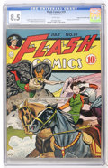 Golden Age (1938-1955):Superhero, Flash Comics #19 Mile High pedigree (DC, 1941) CGC VF+ 8.5 White pages....