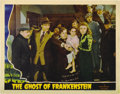 "Movie Posters:Horror, Ghost of Frankenstein (Universal, 1942). Lobby Cards (2) (11"" X 14"").... (Total: 2 Items)"