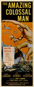 """Movie Posters:Science Fiction, The Amazing Colossal Man (American International, 1957). Insert(14"""" X 36"""")...."""