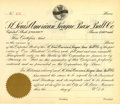 Baseball Collectibles:Others, St. Louis Cardinals Stock Certificate. Vintage stock certificategave its holder the right to shares in the St. Louis Cardi...