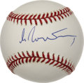 Autographs:Baseballs, Mikhail Gorbachev Single Signed Baseball. The last leader of theSoviet Union prior to its collapse in 1991, Mikhail Gorbac...