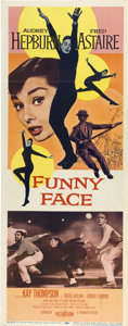 """Movie Posters:Romance, Funny Face (Paramount, 1957). Insert (14"""" X 36"""")...."""