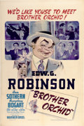 "Movie Posters:Crime, Brother Orchid (Warner Brothers, 1940). One Sheet (27"" X 41"")...."