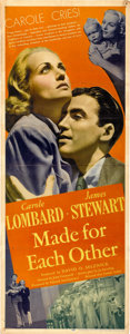 "Movie Posters:Comedy, Made For Each Other (United Artists, 1939). Insert (14"" X 36"")...."