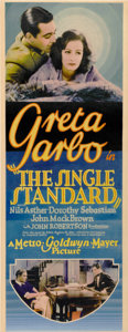 "Movie Posters:Drama, The Single Standard (MGM, 1929). Insert (14"" X 36"")...."