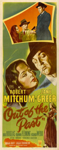 "Movie Posters:Film Noir, Out of the Past (RKO, 1947). Insert (14"" X 36"")...."