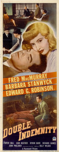"Movie Posters:Film Noir, Double Indemnity (Paramount, 1944). Insert (14"" X 36"")...."