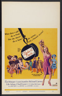 "Made in Paris (MGM, 1966). Window Card (14"" X 22""). Comedy"