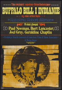 """Buffalo Bill and the Indians (United Artists, 1976). Polish One Sheet (26.5"""" X 38.5""""). Western"""