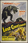 "Movie Posters:Science Fiction, Lost Continent (20th Century Fox, 1951). One Sheet (27"" X 41"").Science Fiction...."