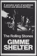 """Movie Posters:Rock and Roll, Gimme Shelter (20th Century Fox, 1970). One Sheet (27"""" X 41""""). Rockand Roll...."""