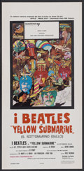 "Movie Posters:Animated, Yellow Submarine (United Artists, 1968). Italian Locandina (13"" X27.5""). Animated...."