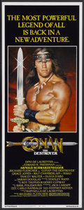 "Movie Posters:Action, Conan the Destroyer (Universal, 1984). Insert (14"" X 36"").Action...."