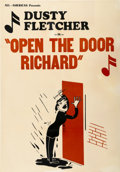 "Movie Posters:Black Films, Open the Door Richard (All-American, 1945). One Sheet (28.5"" X41"")...."