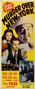"Movie Posters:Mystery, Murder Over New York (20th Century Fox, 1940). Insert (14"" X36"")...."