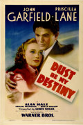 "Movie Posters:Drama, Dust Be My Destiny (Warner Brothers, 1939). One Sheet (27"" X41"")...."