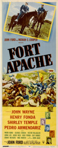 "Movie Posters:Western, Fort Apache (RKO, 1948). Insert (14"" X 36"")...."