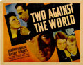"""Movie Posters:Drama, Two Against the World (Warner Brothers, 1936). Half Sheet (22"""" X28"""")...."""