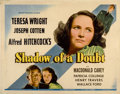 "Movie Posters:Hitchcock, Shadow of a Doubt (Universal, 1943). Half Sheet (22"" X 28"")...."