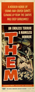 "Movie Posters:Science Fiction, Them! (Warner Brothers, 1954). Insert (14"" X 36"")...."
