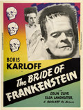 "Movie Posters:Horror, The Bride of Frankenstein (Realart, R-1953). Poster (30"" X 40"")...."
