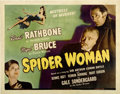 "Movie Posters:Mystery, The Spider Woman (Universal, 1944). Half Sheet (22"" X 28"")...."