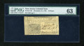 Colonial Notes:New Jersey, New Jersey December 31, 1763 18d PMG Choice Uncirculated 63....