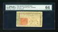 Colonial Notes:New Jersey, New Jersey March 25, 1776 6s PMG Choice Uncirculated 64....